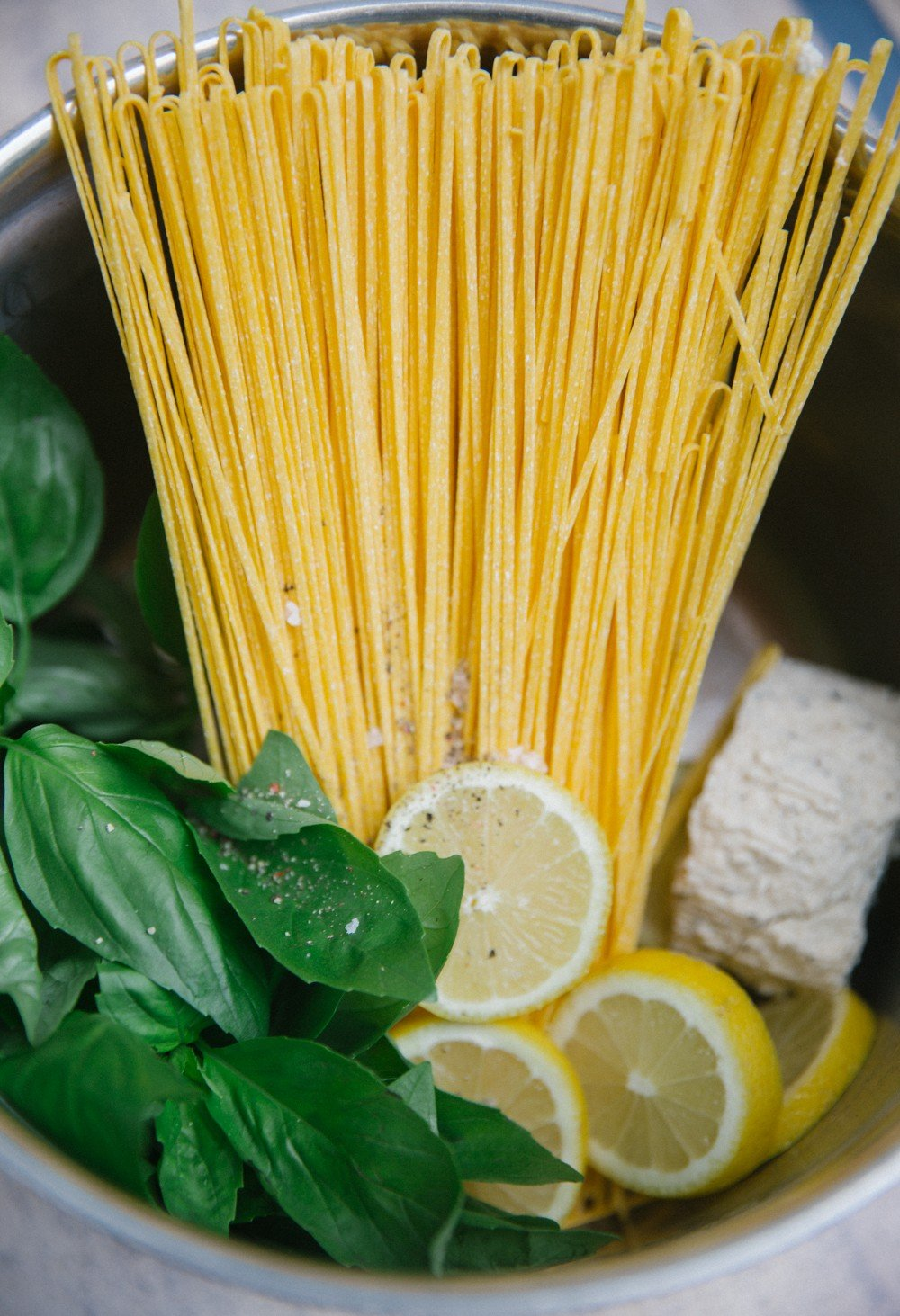 One pot lemon pasta