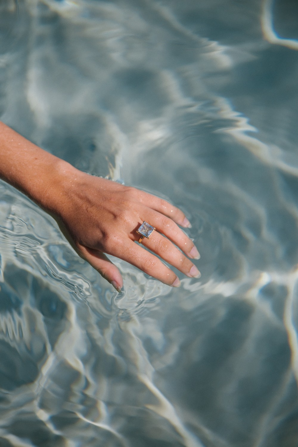 Silver May Aquamarine ring - Take the ocean with you
