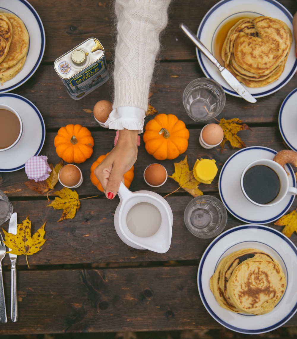 Pumpkins and Pancakes for breakfast