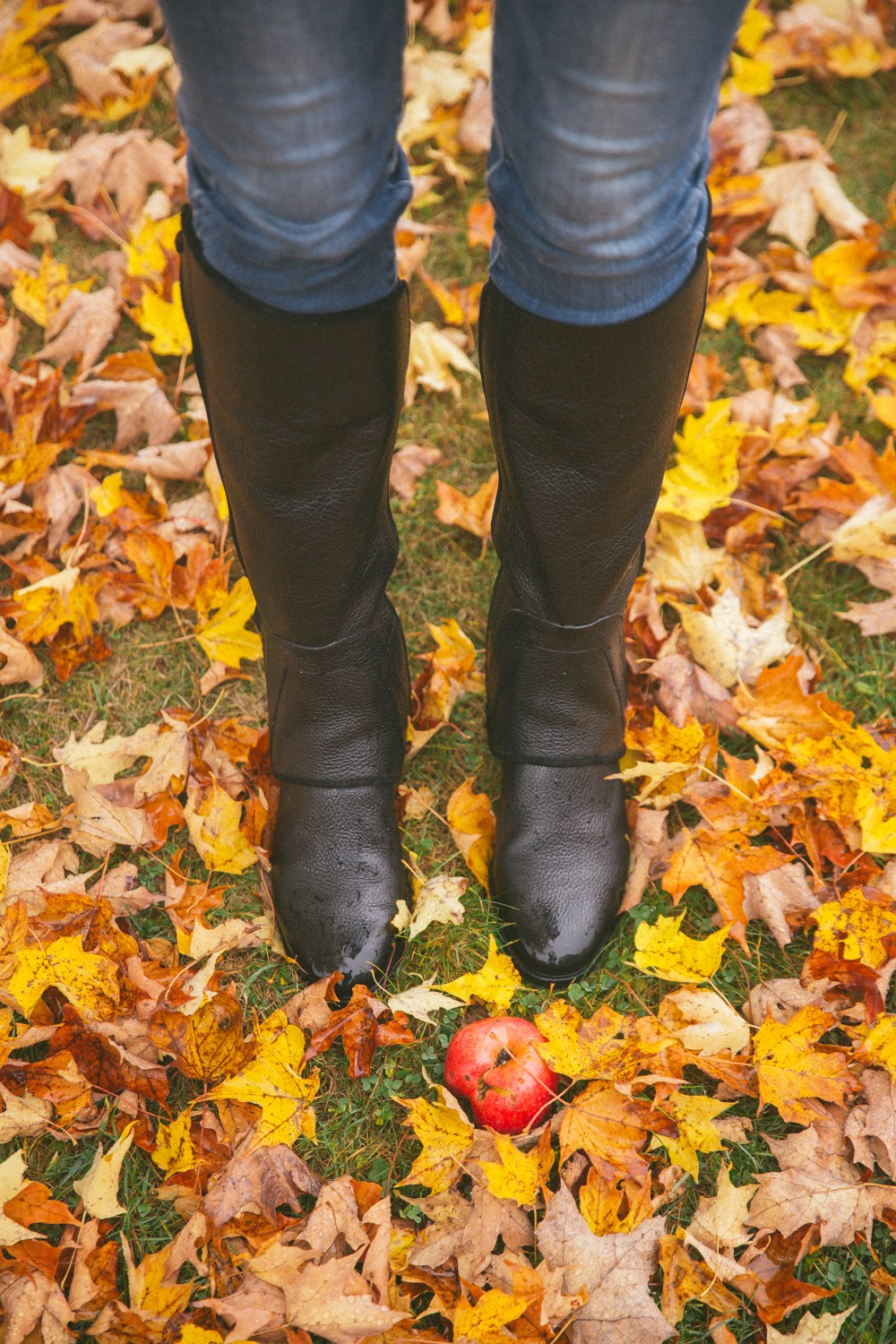 Autumn boots - convert from long to ankle length and back again!