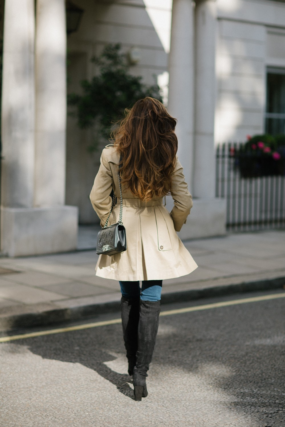 Trench coat and boots
