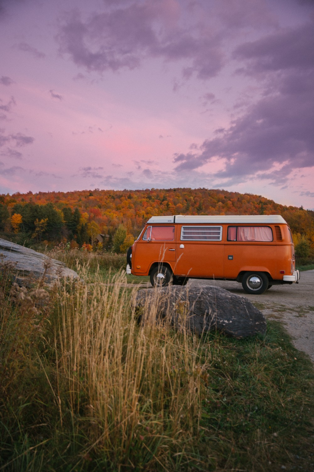 VW Camper in Vermont Orange!