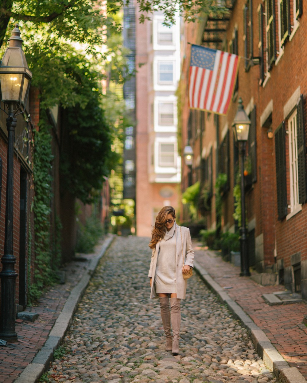 One of the oldest streets in America - Acorn Street, Boston