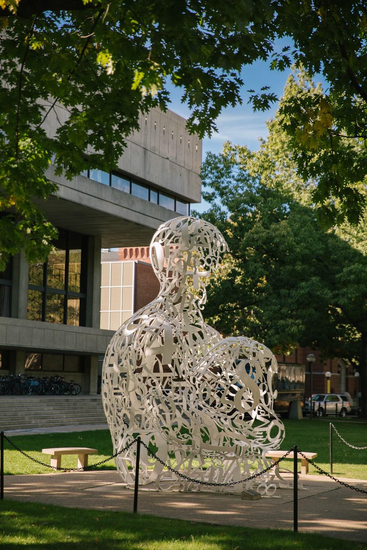 Sculpture outside MIT