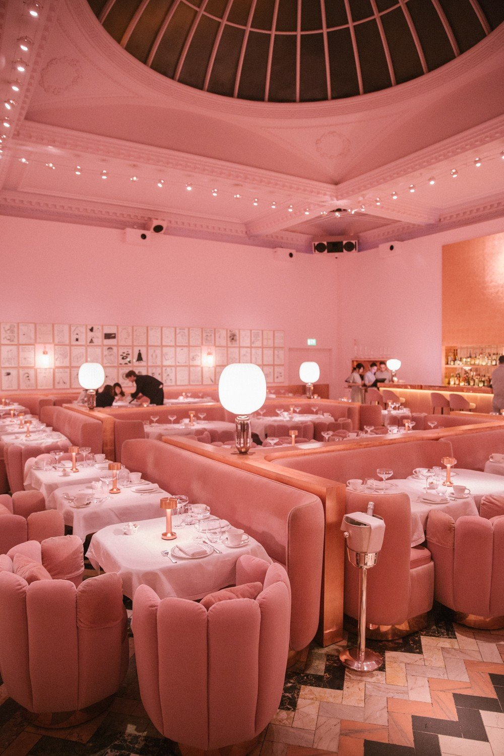 Pink room at Sketch, London