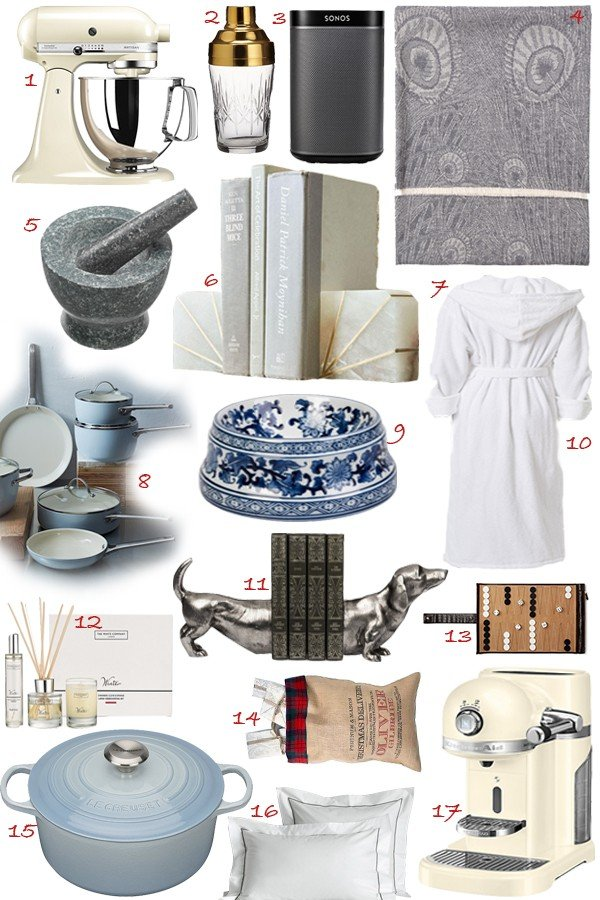 House warming pressies or gifts for the homemakers