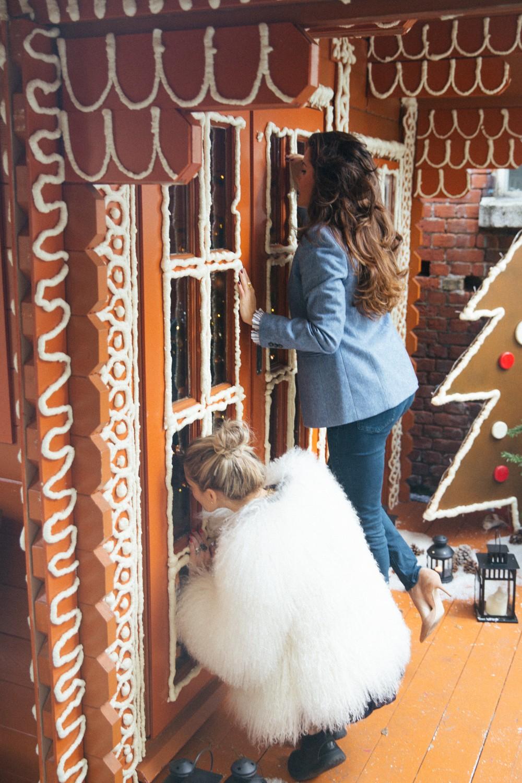 Gingerbread cabin in London