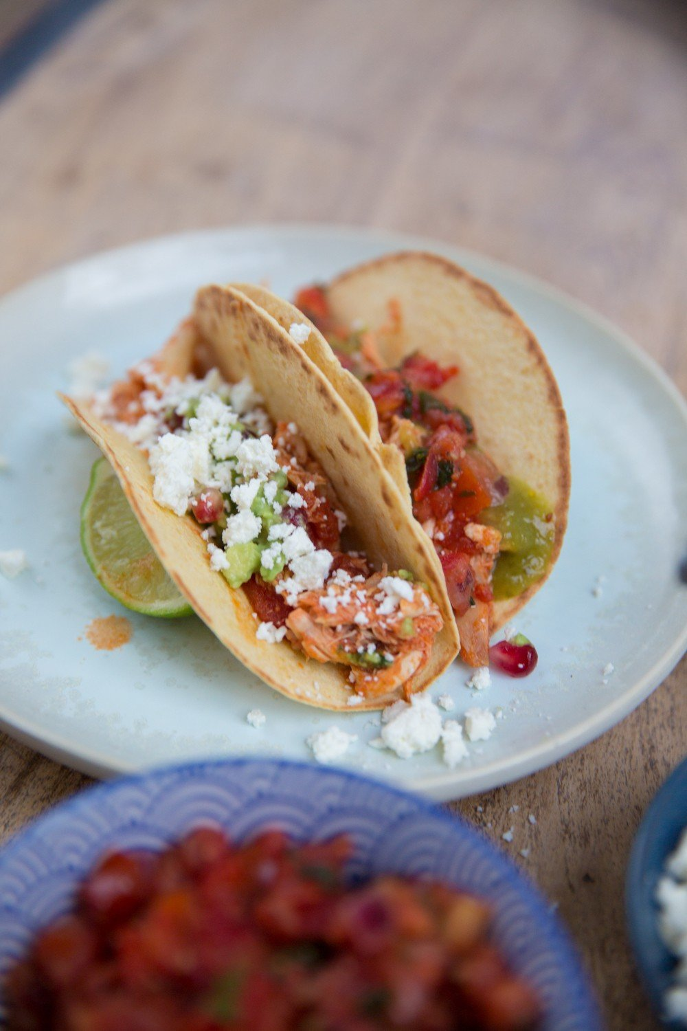 Leftovers Tacos - a great (super easy) way to use up a roast chicken or turkey!