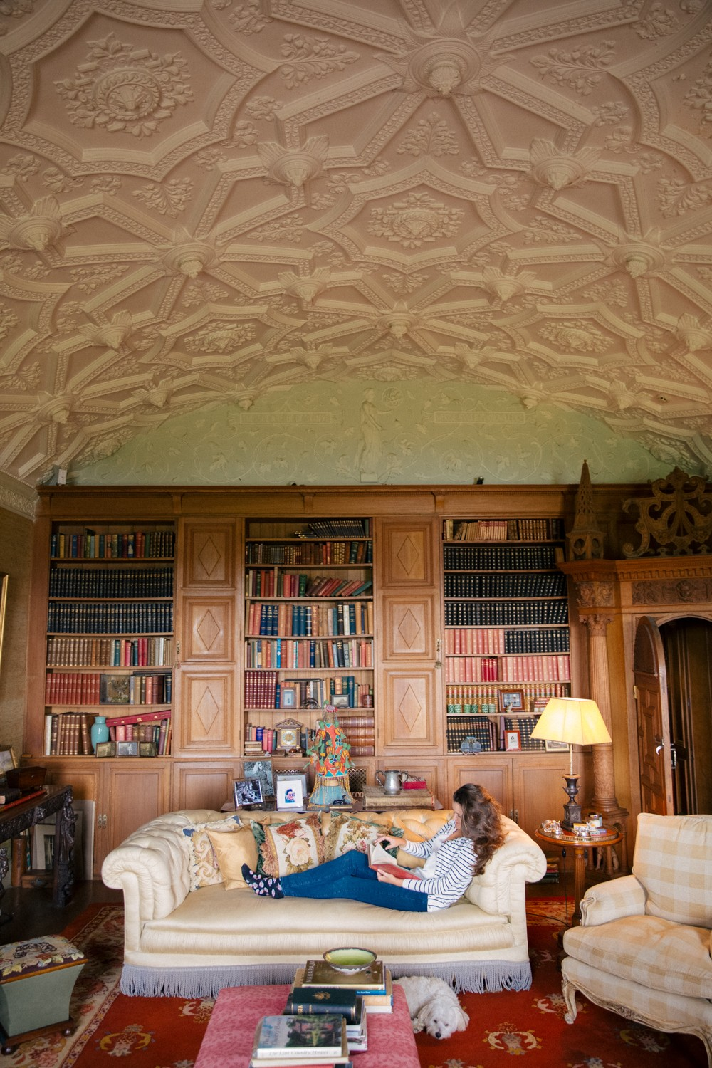 The library at Sennowe Park - perfect wedding location!